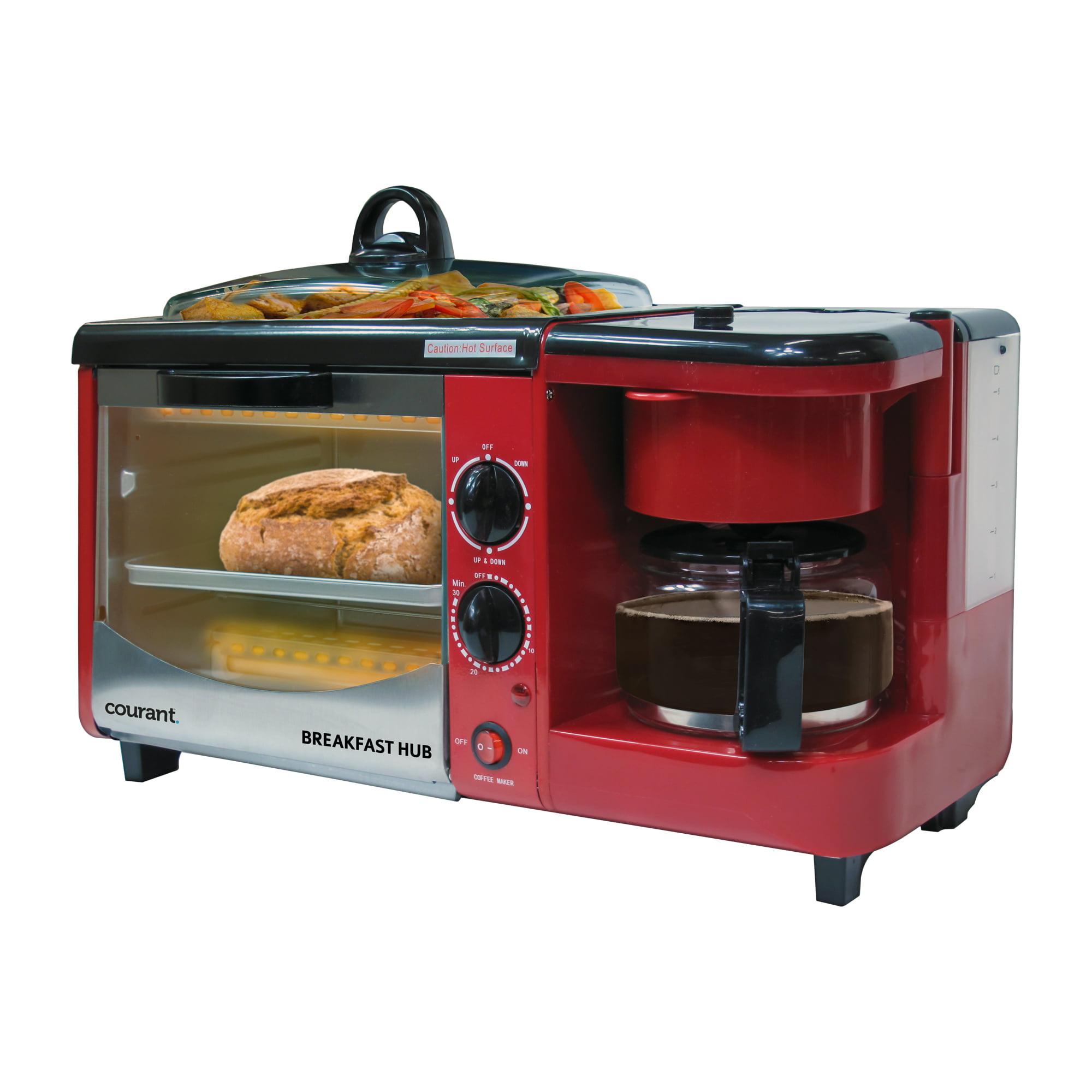 Uncategorized Multifunction Kitchen Appliances courant cbh4601 3 in 1 multifunction breakfast hub red walmart com