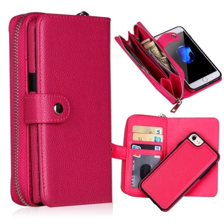 iPhone 7s Plus Wallet Case, Mignova 2 in 1 Detachable Back Case Leather flip Wallet Bag Pouch Case Cover for Apple iPhone 7s Plus 5.5