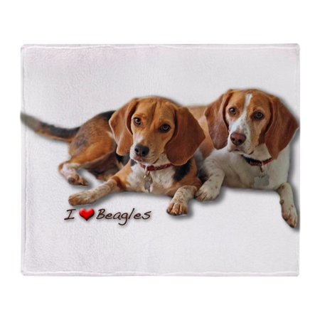 "CafePress - Two Beagles - Soft Fleece Throw Blanket, 50""x60"" Stadium Blanket"