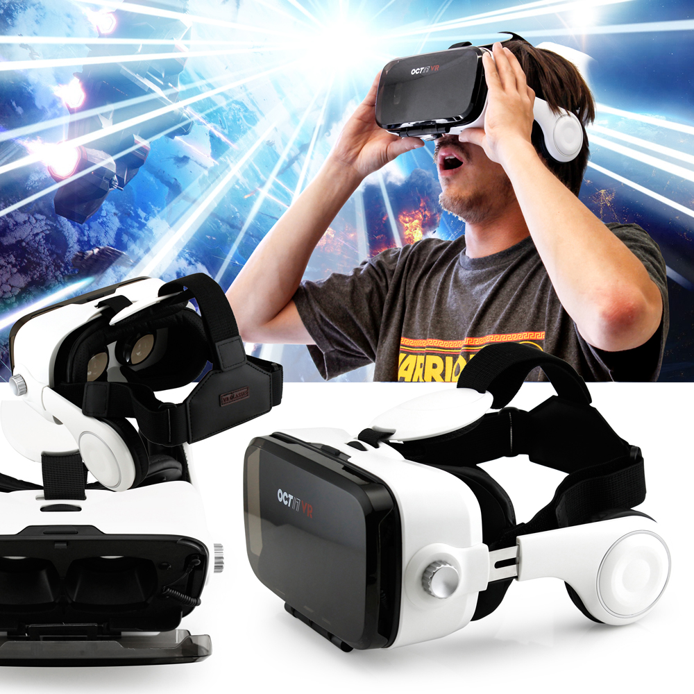 Oct17 3D Virtual Reality VR Z4 4th Generation Glasses Box Headset Headphones Earphones video Game movie For IOS Android Iphone 6 plus Samsung Galaxy S6 Edge+