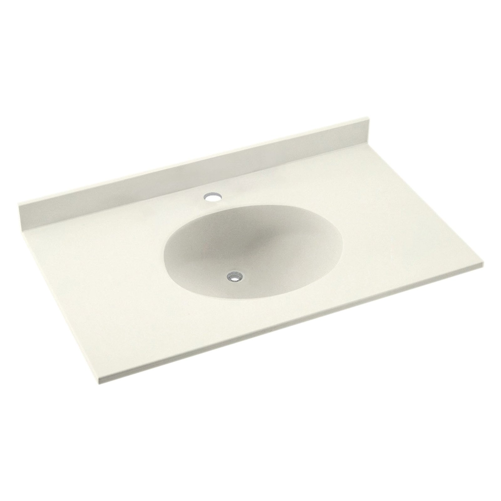 Swanstone 55W x 22D in. Ellipse Solid Surface Vanity Top