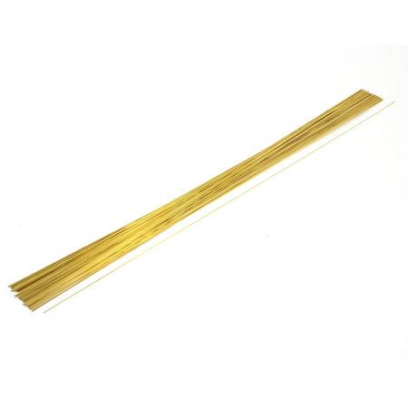 Unique Bargains 100Pcs Copper 0.5mm OD 400mm Long Single Hole Electrode EDM Tube Pipe
