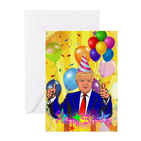CafePress - Happy Birthday Donald Trump - Greeting Card, Blank Inside Glossy](Trump Card Make Up Halloween)