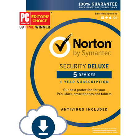 Norton Security Deluxe - 5 Device (Download Code) (Norton 360 Vs Norton Internet Security 2014)