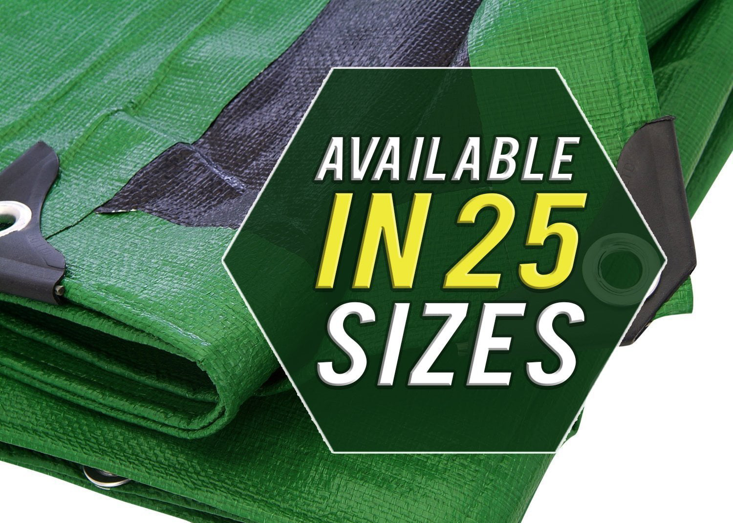 Waterproof Extra Heavy-Duty Tarp 6X8 Multi-Purpose Poly Tarpaulin with Aluminum Grommets Rot Rust and UV Resistant Cover Protector Shelter for Cars Boats Construction Contractors Campers 10 Mill