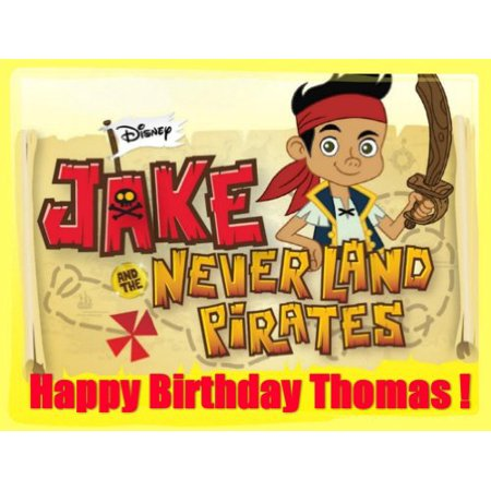 Jake and the Neverland Pirates Edible Image Cake Toppers Frosting
