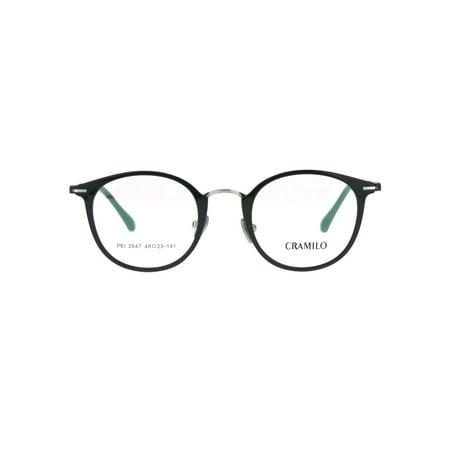 Optical Quality Round Keyhole Circle Lens Horn Eyeglasses Frame Shiny Black (Optical Keyhole)