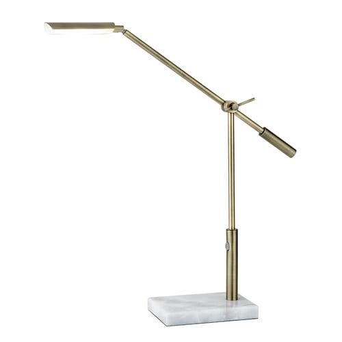 Vera Adjustable LED Desk Lamp, Brass by Adesso