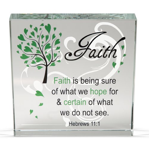 Angelstar Faith Clearly Inspired Textual Art Plaque (Set of 2)