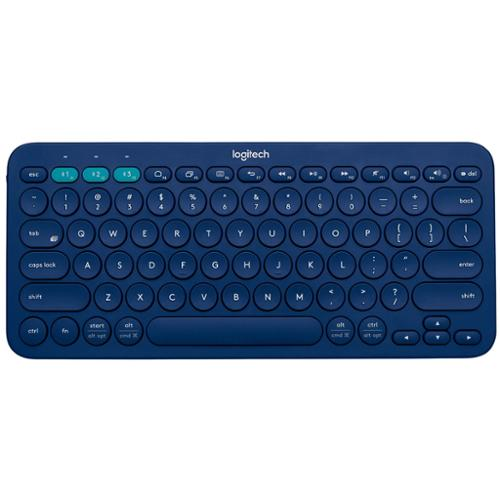 Refurbished Logitech K380 79-Key Compact Multi-Device Wireless Bluetooth v3 Keyboard - Blue