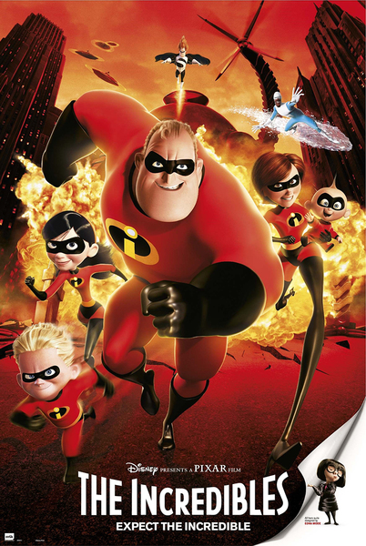 "The Incredibles Disney   Pixar Movie Poster   Print (Regular Style) (Size: 24"" x 36"") by"
