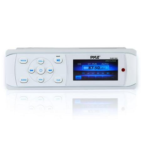 PYLE PLMR15BW - Bluetooth Marine Stereo Radio - Waterproof/Weather on