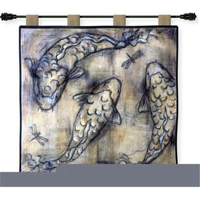 FineArtTapestries 2079-WH Koi Circle Wall Tapestry by Supplier Generic
