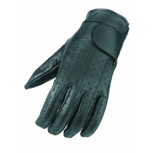 Mossi Mens Summer Vented Riding Glove Small Black