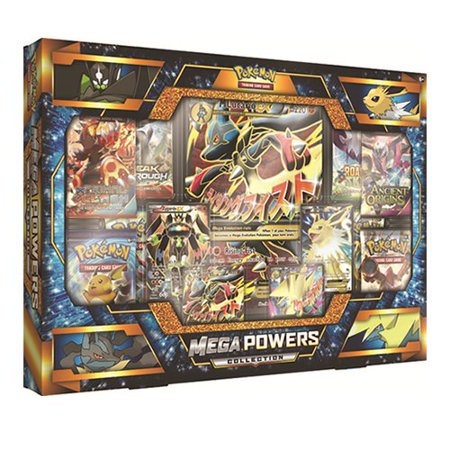 Pokemon Tcg Mega Powers Collection Card Game  The Pok Mon Tcg  Mega Powers Collection Includes Two Full Art Foil Promo Cards Featuring Mega Evolution    By Pok Mon
