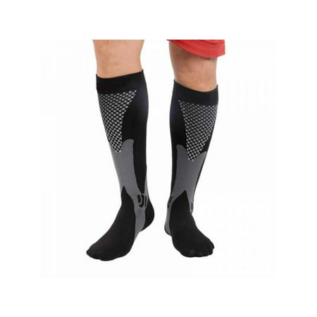 7615f5ffb79 Ropalia Unisex Compression Socks Anti Fatigue Sports Knee High Socks  Stocking Relieve Leg Calf Outdoor - Walmart.com