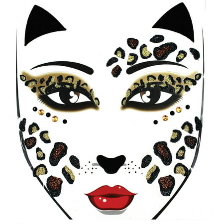Face Decal Adult Halloween Accessory](Easy Halloween Faces)