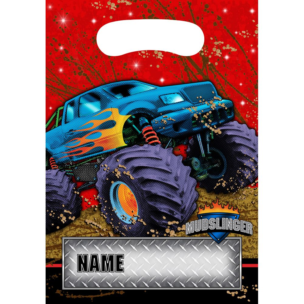Monster Truck Loot Bags - Party Supplies - Walmart.com