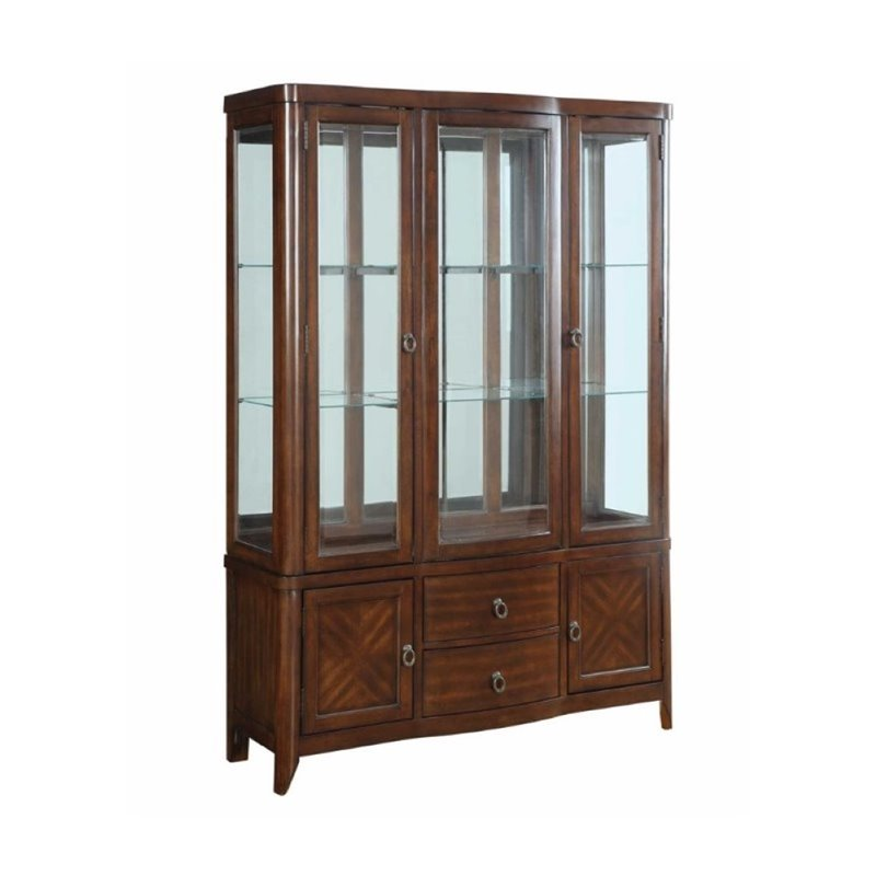 Bowery Hill China Cabinet in Cherry by Bowery Hill