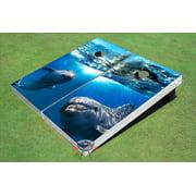 Dolphins Theme Cornhole Boards