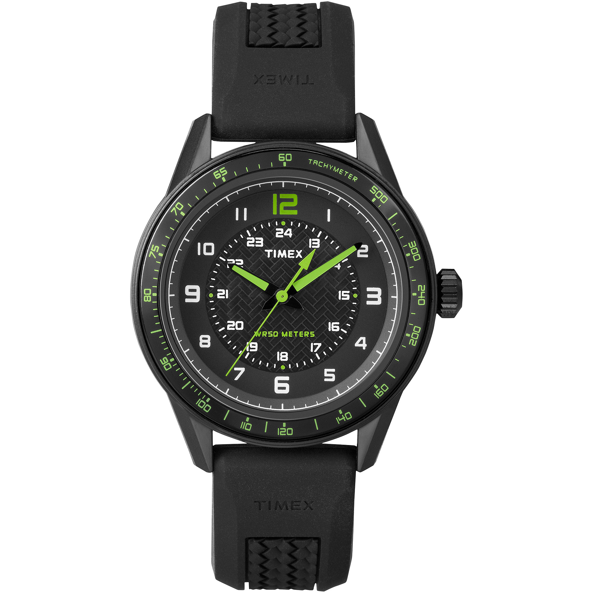 Timex Ameritus Sport Black Dial Black Silicone Mens Watch T2P024 by Timex