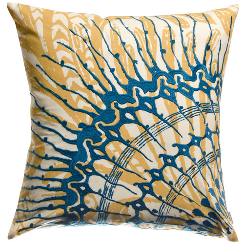 Koko Company Water Cotton Throw Pillow