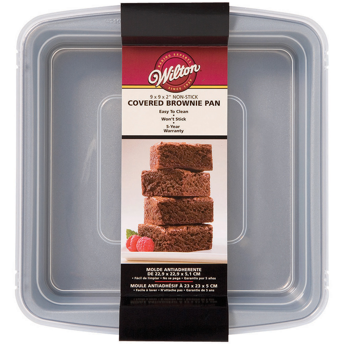"Wilton Recipe Right 9""x9"" Covered Brownie Pan 2105-9199"