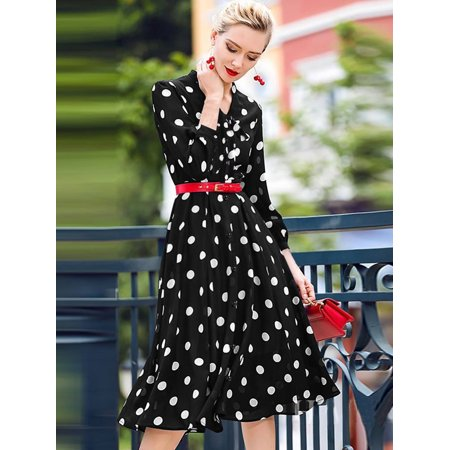 everpretty  everpretty women's vintage polka dot aline