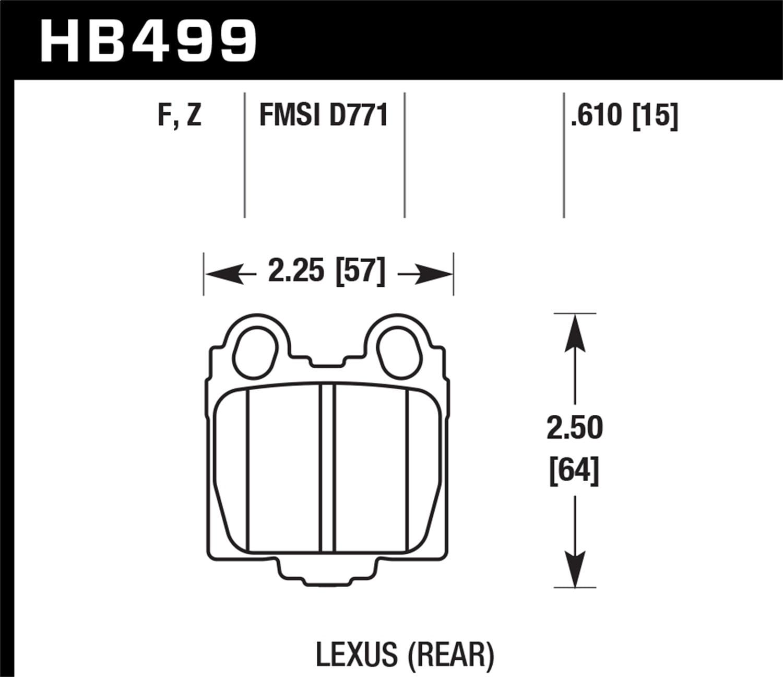 Hawk HPS Disc Brake Pads HB499F.610
