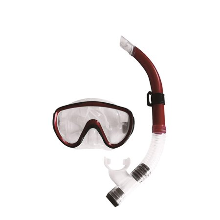 Mask Clear Scuba Dive - Burgundy-Red, Black and Clear Zray Teen/Young Adult Scuba Mask and Snorkel Dive Set