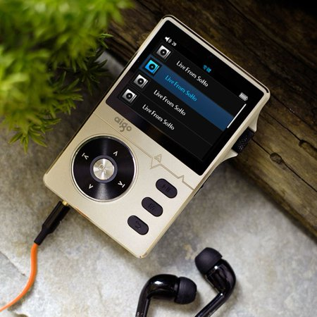 Gold Aigo 108 Zinc Alloy HiFi High Quality Sound Lossless Music 2.2 Inches 8GB