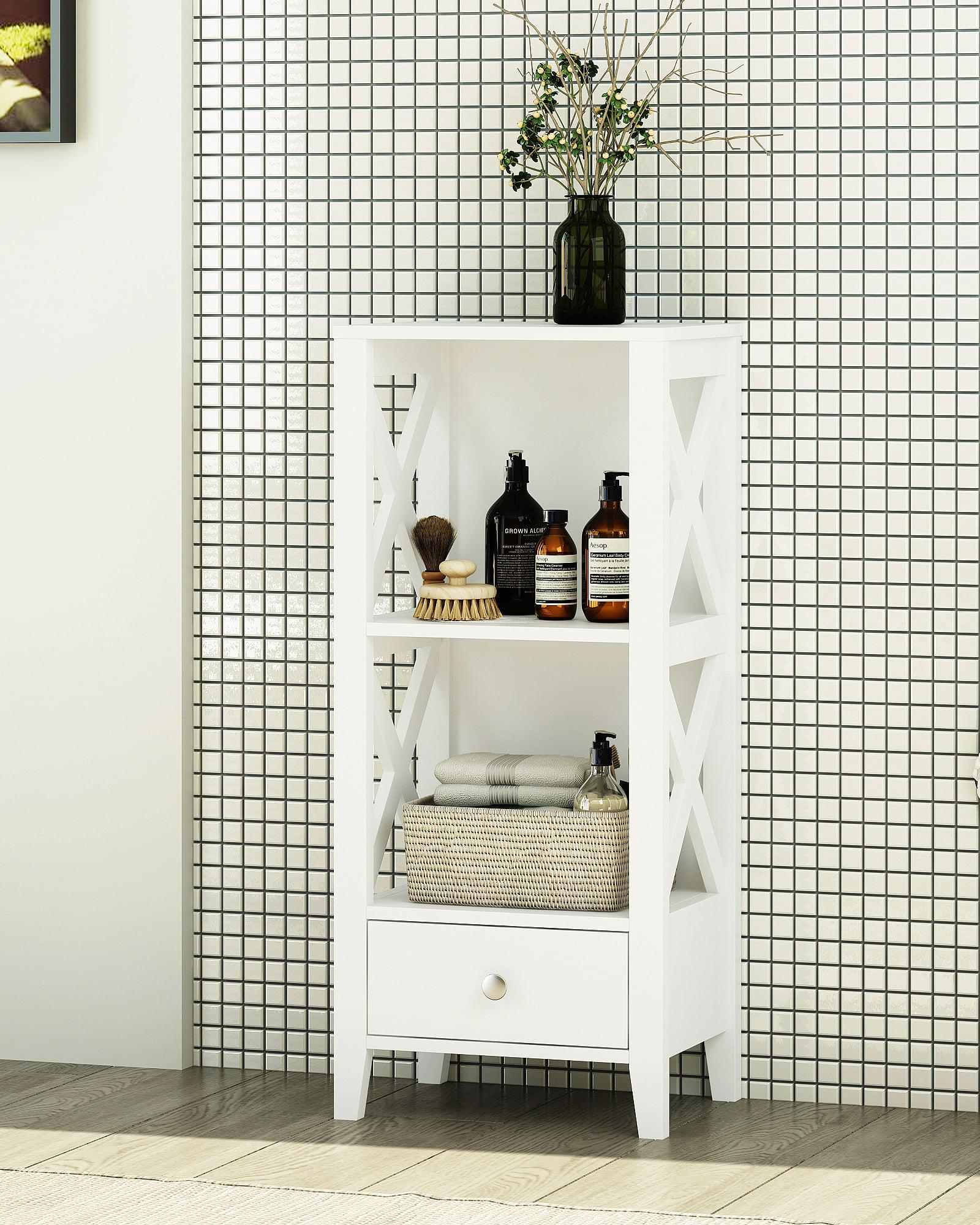 Shelf Bathroom Storage Tower