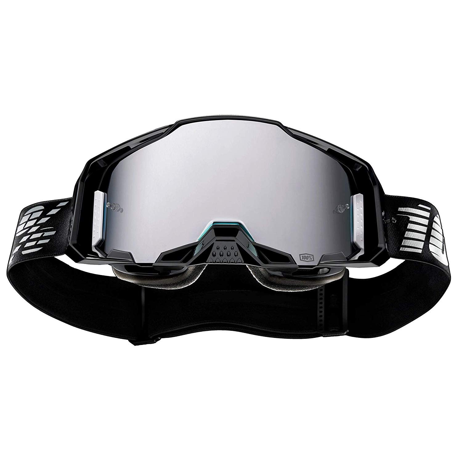 New 100/% Armega Goggles Black Mirror Silver Flash 50710-001-02