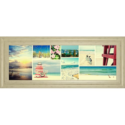 Classy Art Wholesalers 'Coastal Collage Panel' by Gail Peck Framed Photographic Print by Classy Art Wholesalers
