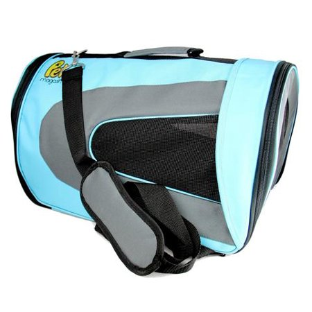 Pet Magasin Airline Approved  Soft Sided Dog Travel Carrier For Dog, Cat & Bird - Blue - Rated Best Pet Travel Carrier in (Best Birds To Have As Pets)