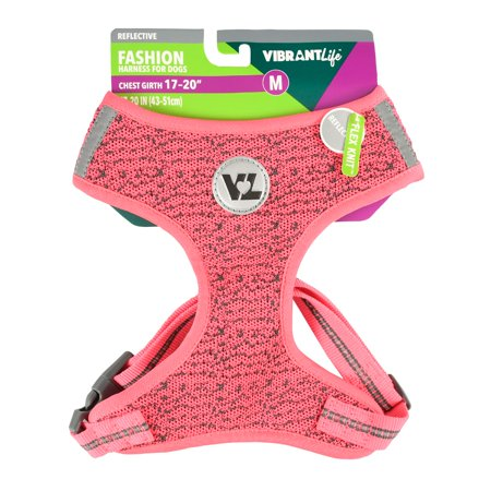 Vibrant Life Fashion Harness For Dogs Pink Medium