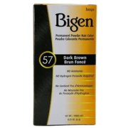 Bigen Permanent Powder Hair Color 57 Dark Brown 1 ea (Pack of 6)