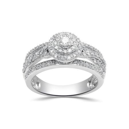 1/2 Carat T.W. Diamond Sterling Silver Anniversary - Bride Of Chucky Ring