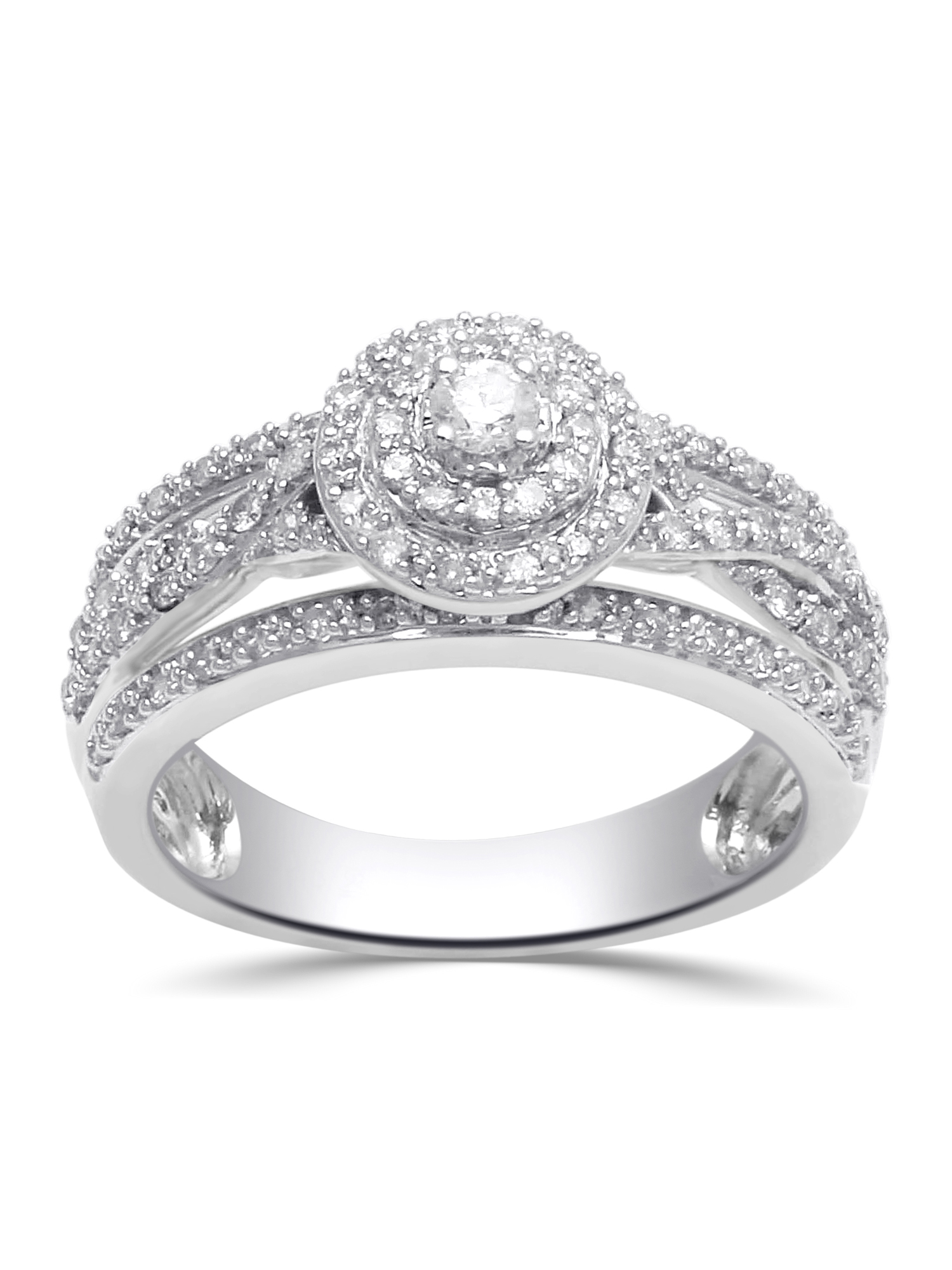 1/2 Carat T.W. Diamond Sterling Silver Anniversary Ring