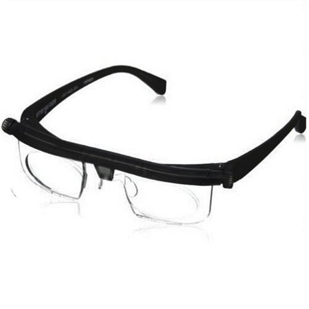 Adjustable Focal Length Myopic Glasses Presbyopia Eyewear Reading Glasses Magnifying Lens Gift Color:black