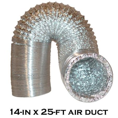 14   X 25 Premium High Grade Air Duct Ducting For Hydroponic Fans Carbon Filter