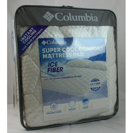 Columbia Super Cool Comfort Mattress Pad King Walmart Com