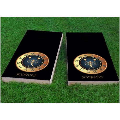 Custom Cornhole Boards Zodiac Scorpio Themed Cornhole Game (Set of 2) by Custom Cornhole Boards