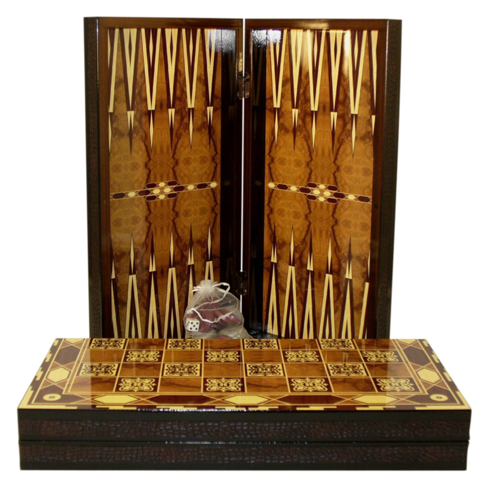 Marrakesh Design Backgammon Set with Chess Board
