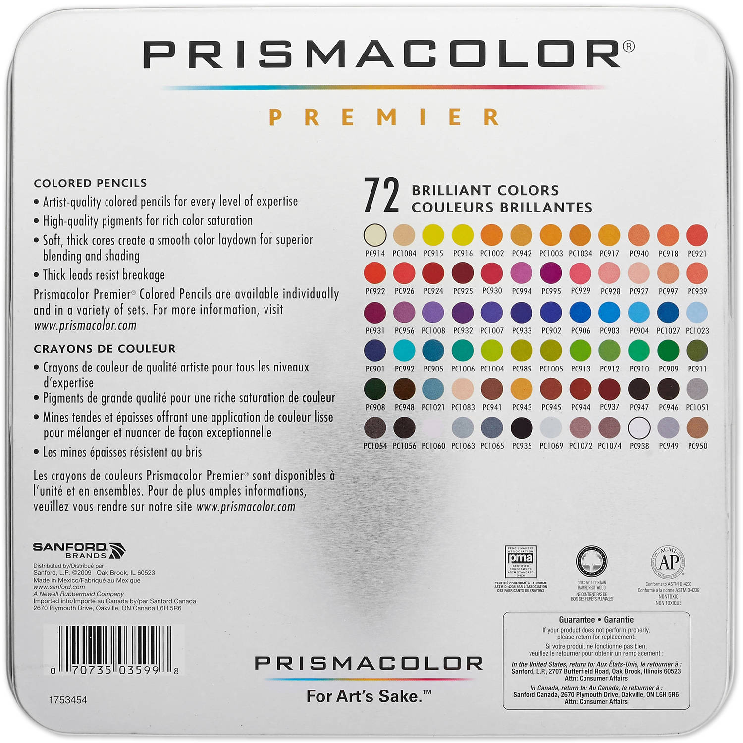 Prismacolor premier colored pencils soft core pack of 72 walmart nvjuhfo Gallery