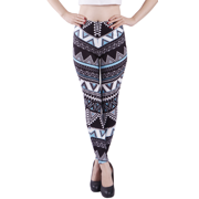 HDE Women's Ultra Soft Leggings Regular Size Fashion Design Stretch Pants (Aztec Tribal Turquoise, Medium)