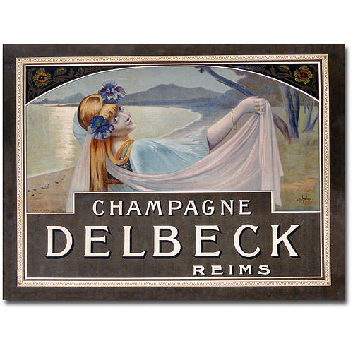 "Trademark Art ""Champagne Delbeck, 1910"" Canvas Wall Art by Louis Chalon"