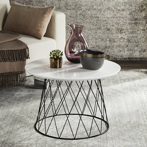 "Safavieh Roper 23"" Round Retro Mid Century End Table, Multiple Colors"