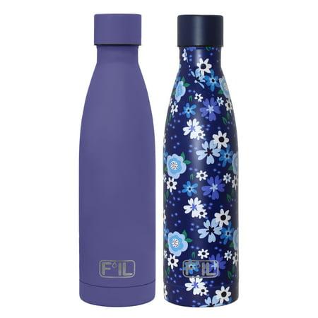 F'il 17oz Modern Steel Vacuum Water Bottles- 2 Pack