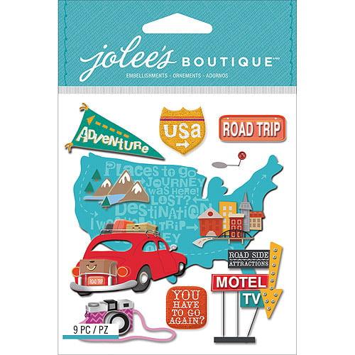 Jolee's Boutique Dimensional Stickers, Road Trip